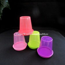 Tupperware New Set 4 MIDGET Midgets Small Containers Raspberry Purple