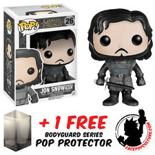 FUNKO POP GAME OF THRONES JON SNOW CASTLE BLACK VINYL FIGURE FREE POP PROTECTOR