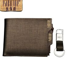 Imported PABOJOE Brand Denim Brown Genuine Leather Wallets for Men