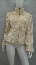 LADIES NEXT CREAM FAKE FUR COAT / JACKET SIZE 12