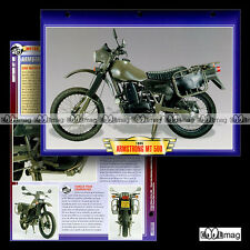 #054.04 Fiche Moto ARMSTRONG MT 500 1984-1987 Military Motorcycle Card