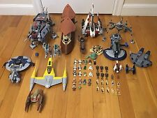 HUGE Lego Star Wars Lot 7675 8018 7660 7674 7678 6210 8016 - Manuals + Minifigs!