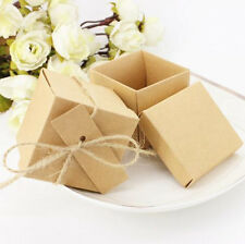 100pc Vintage Wedding Natural Kraft Sweet Gift Candy Favour Boxes Bags Free Tags