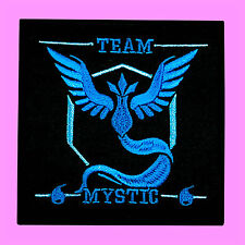 MYSTIC Team Blue Pokemon Go Nintendo Pocket Monster  Embroidered Iron On Patch