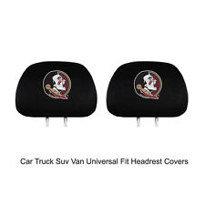 New Team ProMark NCAA Florida State Seminoles Head Rest Covers For Car Truck Suv