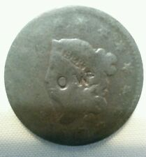 OW countermark on host 1817 us large cent counterstamp trade token