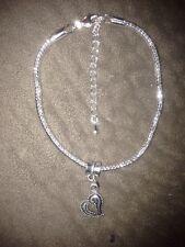 Tibetan Silver Heart Starter Bead with Charm Bracelet - 30J1 Valentines