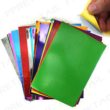 36x A4 PEEL & STICK SHEETS Multi Coloured Metallic/Card/Paper Party Craft Making