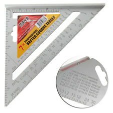 "7"" Square Carpenter's Measuring Ruler Layout Tool Triangle Angle Protractor"