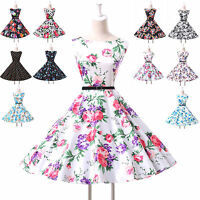 Vintage retro 50's Dress Swing Pinup Floral Prom Party Evening dress
