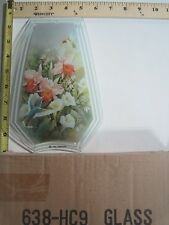 FREE US SHIP OK Touch Lamp Replacement Glass Panel Flowers Humming Bird 638-HC9