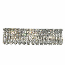 "6 Lights 24'x 6.25"" Cascade Vanity Clear Crystal Wall Sconce Chandelier Light"