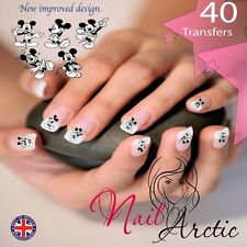 40  x Mouse Nail Art Sticker Water Decals Transfer Stickers