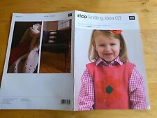 RICO KNITTING IDEA 03 - 19 Knit & Crochet Patterns, Kids Tops & Small Gifts