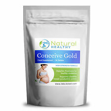 60 Pregnancy Care Conceive Gold Nutrients - Healthy Ovulation female productive