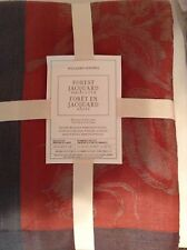 Williams Sonoma Forest Jacquard Tablecloth 70x108 New! Autumn Fall Rust