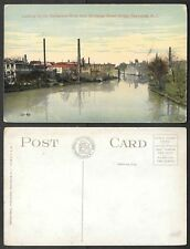 Old Rhode Island Postcard - Pawtucket - Blackstone River from Bridge
