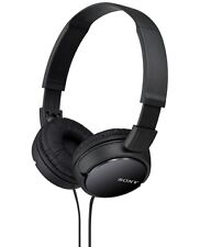 SONY MDR-ZX110 ZX 110 FOLDABLE HEADPHONES BLACK WITH 1 YEAR SONY INDIA WARRANTY