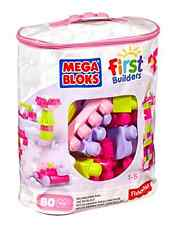 Building Blocks 80-piece Pink Big Bag Toys Toddler Girls Play Gift Preschool New