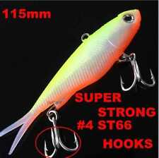 1 Soft Plastic Vibe Transam Fishing Lures Tackle 115mm  Barra Snapper Lure