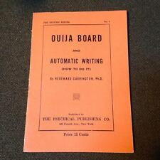 Early VTG 1920s OUIJA Board Automatic Writing Booklet Physic Occult Halloween