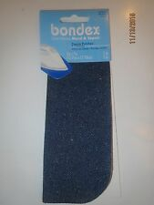 "BONDEX 2 PIECES BLUE DENIM  5"" x 7""  IRON ON MENDING PATCHES, NO SEW repair"