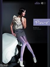 Fiore GREY shiny tights Raula 40 den LARGE size satin gloss pantyhose