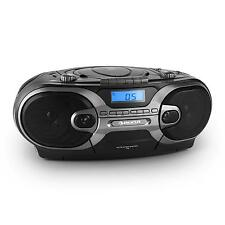 PORTABLE BOOMBOX STEREO CD PLAYER RADIO TAPE DECK USB SD MP3 * FREE P&P UK OFFER