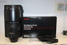 Sigma DG 150-500 mm f/5-6.3 apo HSM os lente para Canon