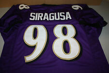 BALTIMORE RAVENS #98 TONY SIRAGUSA SIGNED CUSTOM JERSEY FOX SPORTS SIZE LARGE