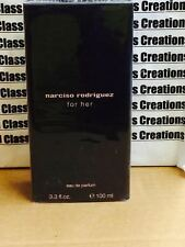 NARCISO RODRIGUEZ  FOR HER- 3.3 OZ/100 ML EDP SPRAY IN BOX(NO CELLOPHANE ON BOX)