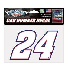Chase Elliott 2017 Wincraft #24 Car Number Decal 7 x 4.75 FREE SHIP!