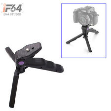 """1/4"""" 2in1 Handheld Grip Mini Tripod Stand For DC Digital Camera Camcorder"""