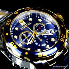 Mens Invicta Pro Diver Scuba Silver Gold 2 Tone Blue Steel Swiss Parts Watch New