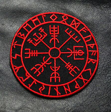 VIKING COMPASS VEGVISIR 3.5 INCH RED/BLK TACTICAL MORALE VELCRO PATCH
