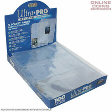 Ultra Pro Silver Series 3 Hole 9 Pocket Trading Card Pages - 10 Sheets