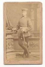 Foto Portrait CDV Badisches Dragoner Rgt. 21 Bruchsal mit Säbel um 1880