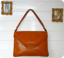 ASSIMA Vintage 100% Leder Tasche Schultertasche Bag Leather Shopper Boho Chic