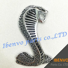 Metal Shelby Cobra Snake Trunk Tailgate Badge Emblem For Shelby Mustang GT500