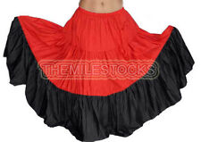 TMS Cotton 10 Yard 3 Tier Skirt Belly Dance Gypsy Costume Troup Tribal  27 Color