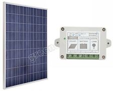 100W Solar Panel Kit 12V Solar Panel+ Charge Controller w/ Timer & Light Sensor