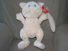 "VINTAGE POKEMON MEW PINK CAT STUFFED PLUSH BIG HUGE LARGE 18"" PLAY BY PLAY TOY"