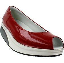 MBT KIANGA CRIMSON RED PATENT PEEP TOE TONING WALKING SHOES 37 US 6-6.5