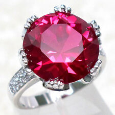 SPECIAL SALE BIN $19.99 SWEET 9 CT RUBY 925 STERLING SILVER RING SIZE 8