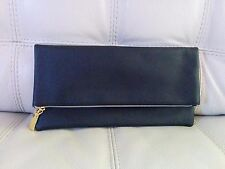 Estee Lauder Black Foldover Clutch Cosmetics Pouch Makeup Bag