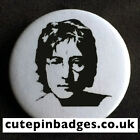 "John Lennon Badge (25mm/1"") Pin Button Beatles Instant Karma Oh Yoko! Backbeat"
