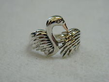 Clogau Silver & 9ct Welsh Gold Swan Royal Ring size P RRP £119.00