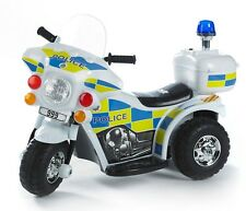 Kids RIDE ON ELECTRIC BIKE - Police -  6V - Forward & Reverse -  Ages 2+