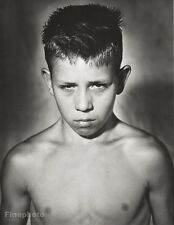 1986 Vintage YOUTH BOXING CLUB Male Boy Portrait Photo Gravure Plate BRUCE WEBER