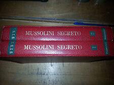 D'Aroma Mussolini Segreto due volumi in cofanetto fine anni 60 ESIS Roma